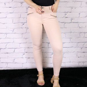2/$20 Baby pink pants mid-rise skinny jeans d2